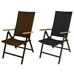 Alu-Pile Chaise de Jardin Empilable Meub